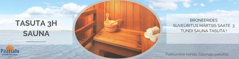 Märtsis TASUTA saun!